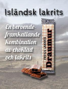 Isländsk lakrits - En beroendeframkallande kombination av choklad och lakrits